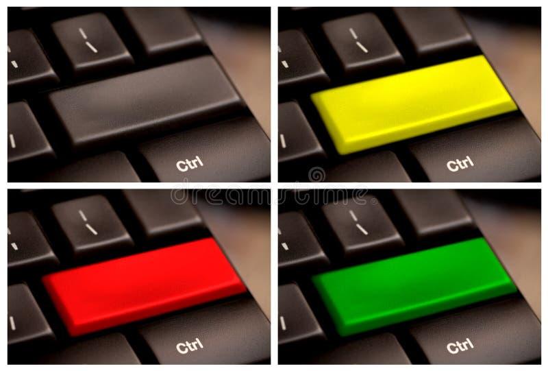 De lege Knoop van het Toetsenbord van de Computer. veelvoudige sleutel royalty-vrije stock afbeeldingen
