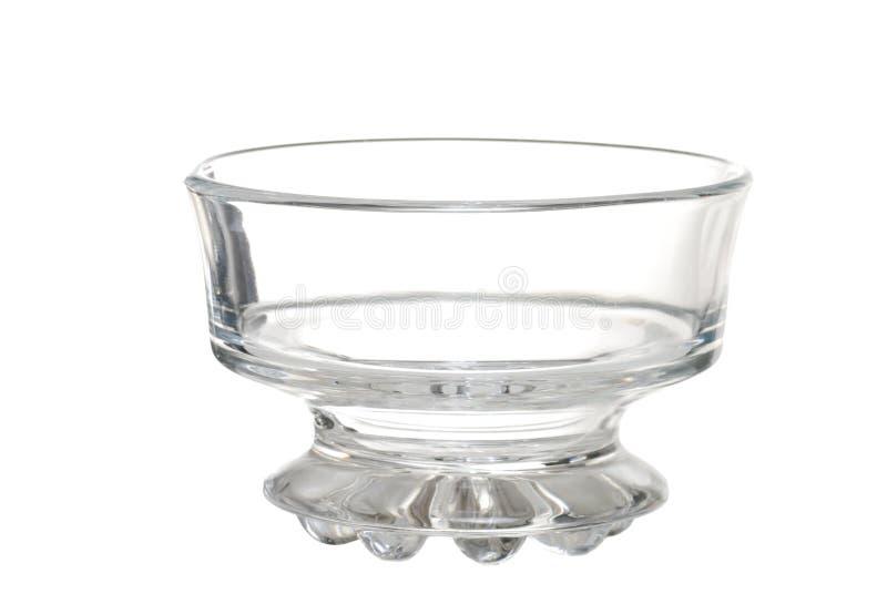De lege Kom van het Glas van het Dessert van het Roomijs stock afbeeldingen