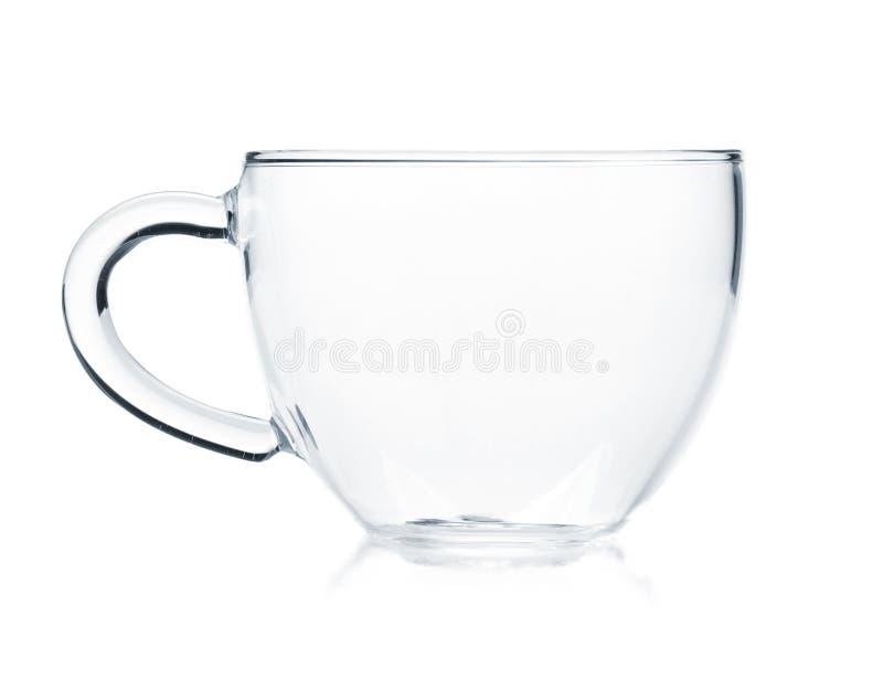 De lege kop van de glasthee stock afbeelding