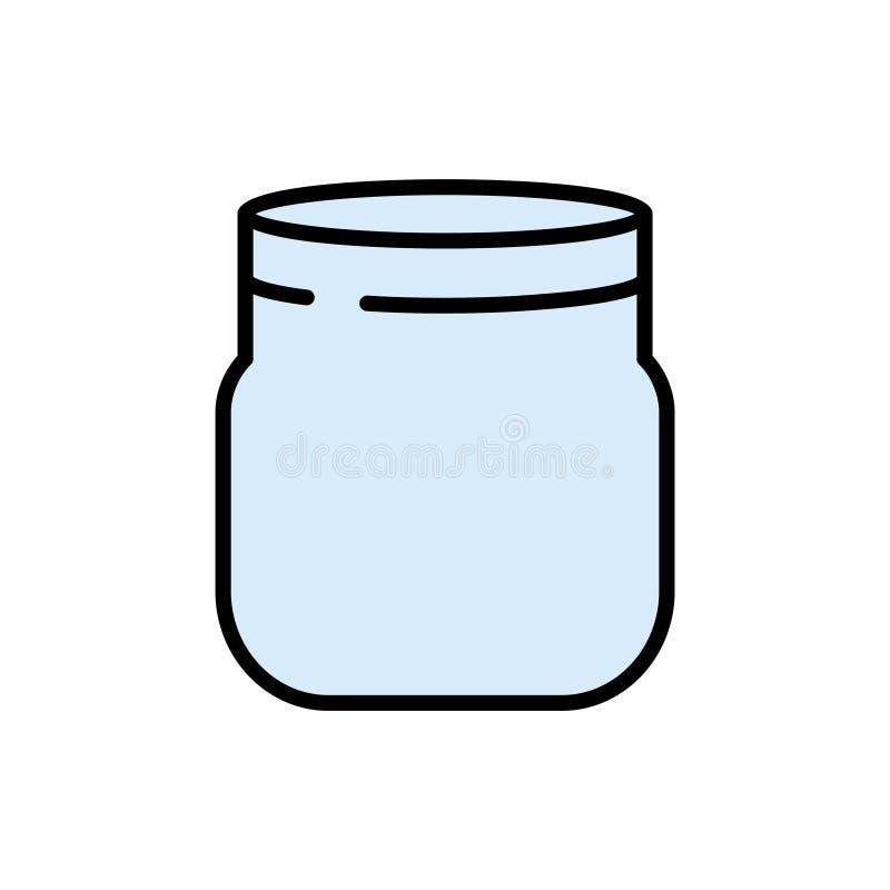 De lege kruik van de glasmetselaar Vlakke stijl Vector illustratie Het koken concept vector illustratie