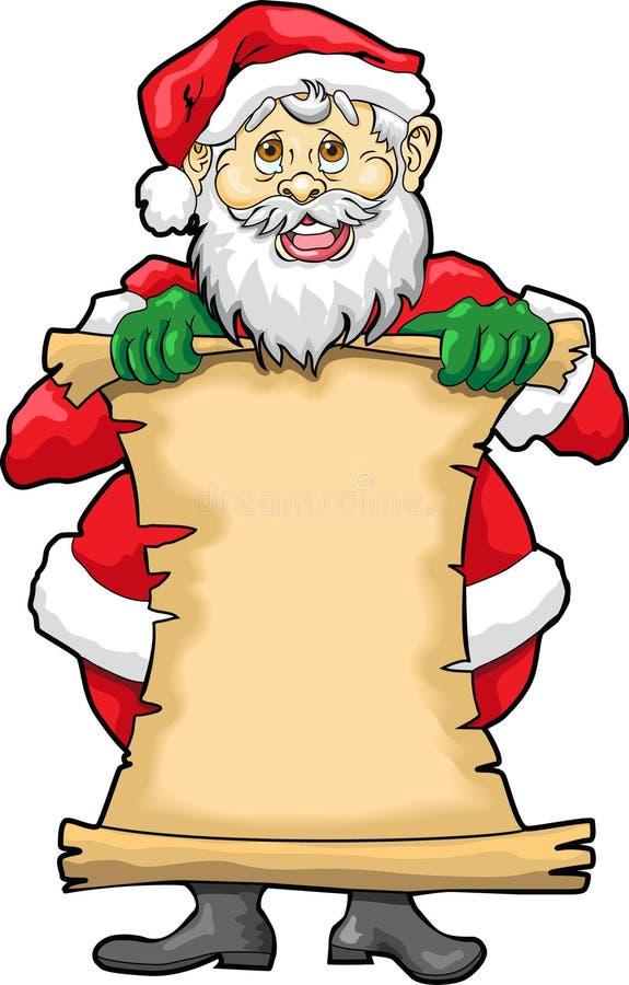De Lege Lijst van de kerstman royalty-vrije illustratie