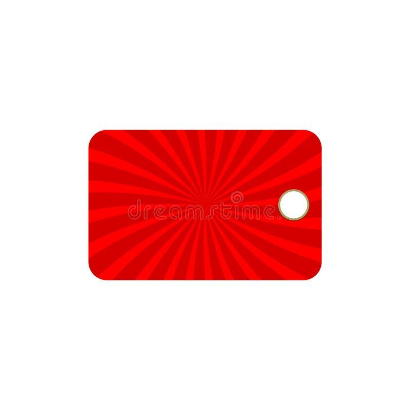 De lege markering, Etiket lege markering voegt tekst toe de lege groetkaart uw toevoegt royalty-vrije illustratie