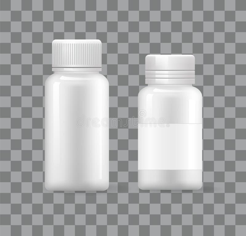 De lege Plastic Medische Containers isoleerden 3D Pictogrammen stock illustratie