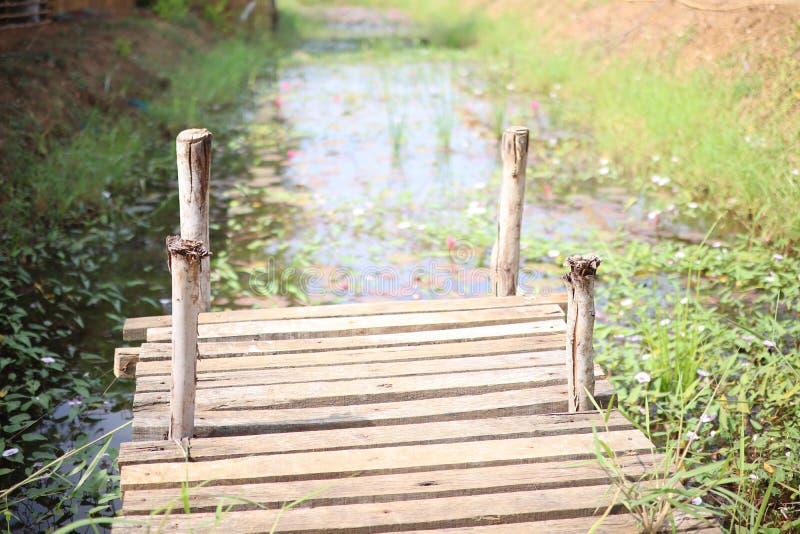 De lege ruimte, houten Natuurlijke achtergrond van de gangportiek stock afbeelding