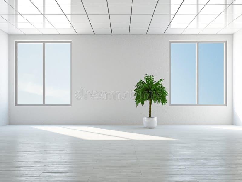 Lege ruimte met venster stock illustratie