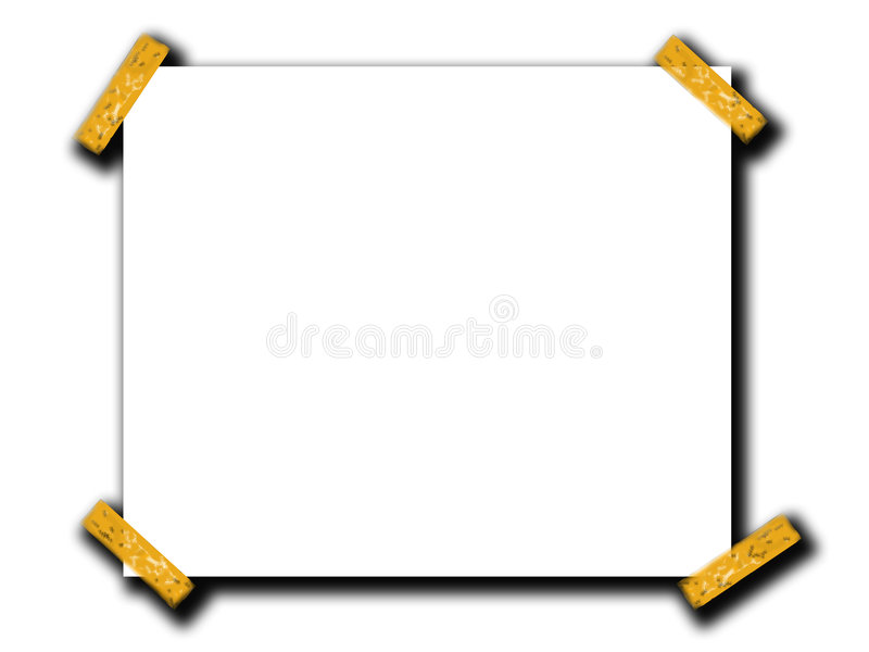 De lege Ruimte van het Document met Band 4 stock illustratie