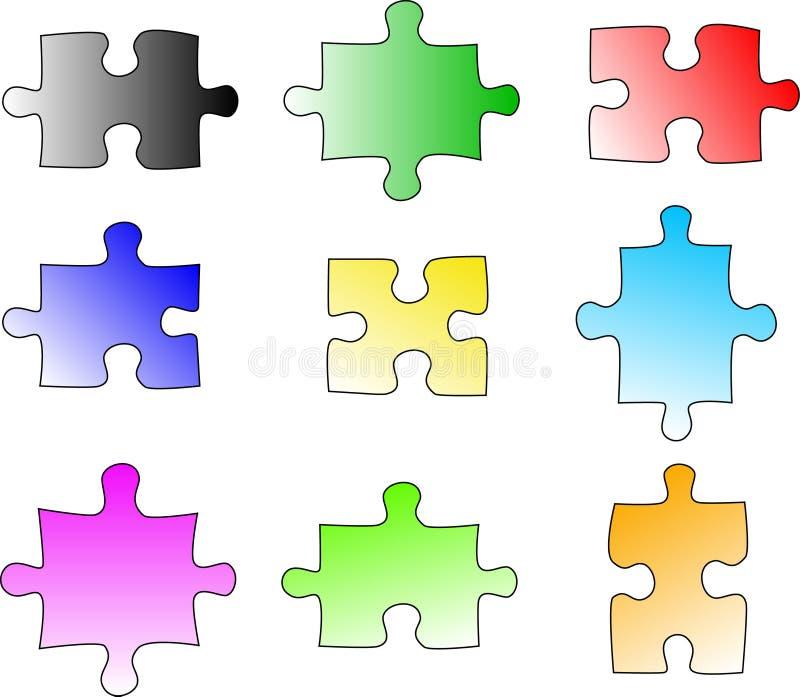 De lege stukken van het kleurenraadsel vector illustratie