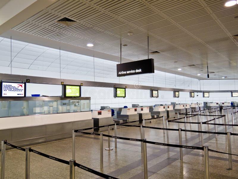 De lege Terminals van de Inschrijving van de Luchtvaartlijn stock foto's