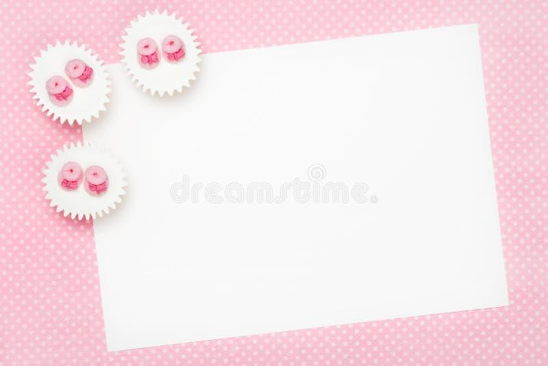 De lege uitnodiging van de babydouche stock foto
