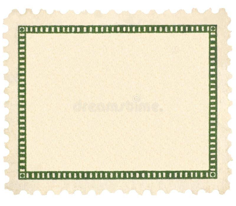 De lege Uitstekende Macro van het Vignet van de Postzegel Groene royalty-vrije stock afbeelding