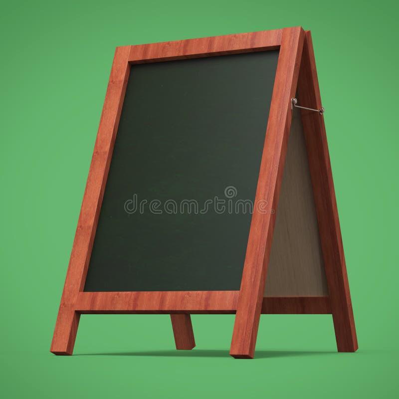 De lege van het het bordbord van de menureclame openluchtvertoning geeft terug vector illustratie