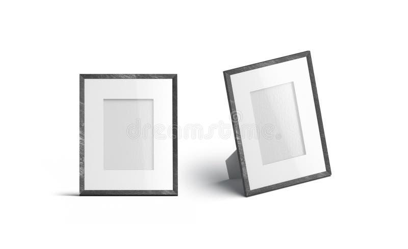 De lege verticale spot van het het kader voor en zijaanzicht van de lijstfoto omhoog, stock illustratie