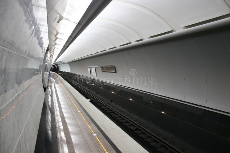 De lege vloer van de metropost stock foto's