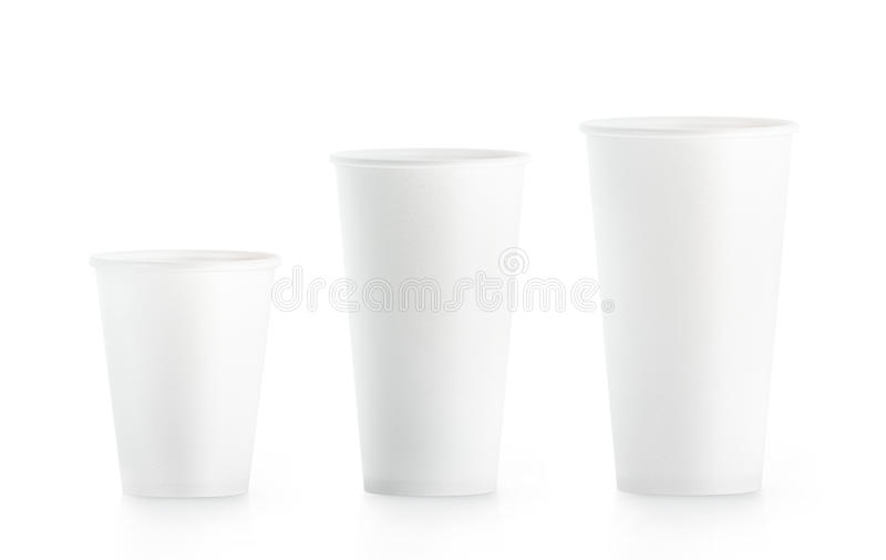 De lege witte beschikbare document kop onecht UPS isplated vector illustratie