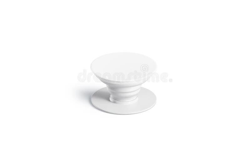 De lege witte geïsoleerde spot van de telefoon pop contactdoos omhoog, vector illustratie