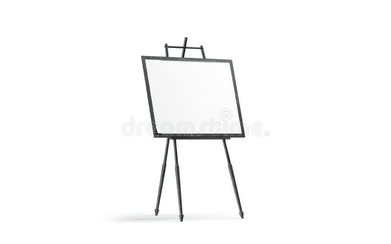 De lege witte tribune van het kunstcanvas op zwart houten schildersezelmodel, stock illustratie