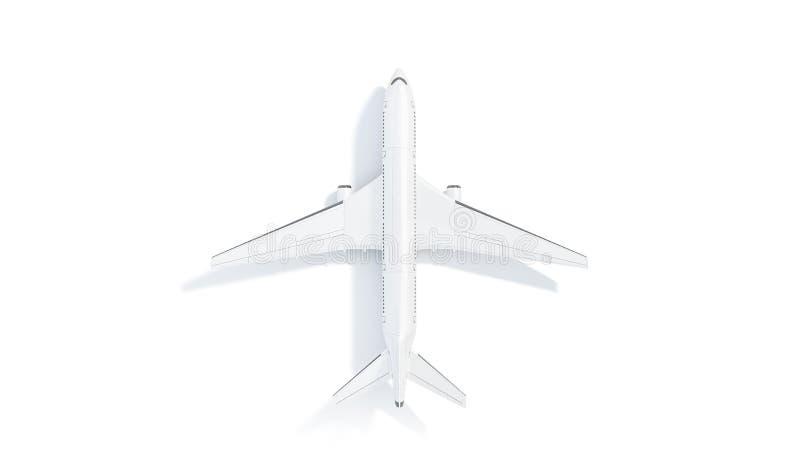 De lege witte vliegtuigspot staat op, hoogste geïsoleerde mening, stock foto's