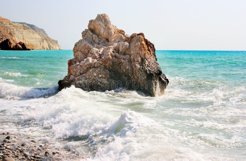 De legendarische geboorteplaats van Aphrodite in Cyprus stock afbeeldingen