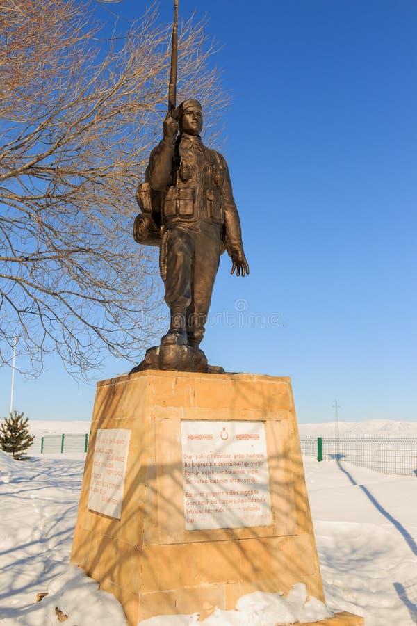1919 de Legende van het Beeldhouwwerk van Kars en van het Monument royalty-vrije stock fotografie