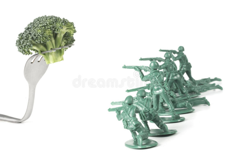 Download De Legermensen Vallen Vork Aan Stock Foto - Afbeelding bestaande uit groen, commando: 54091220
