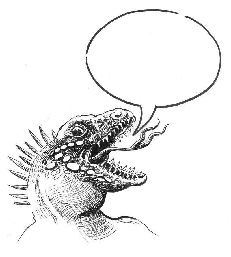 De leguaan spreekt vector illustratie