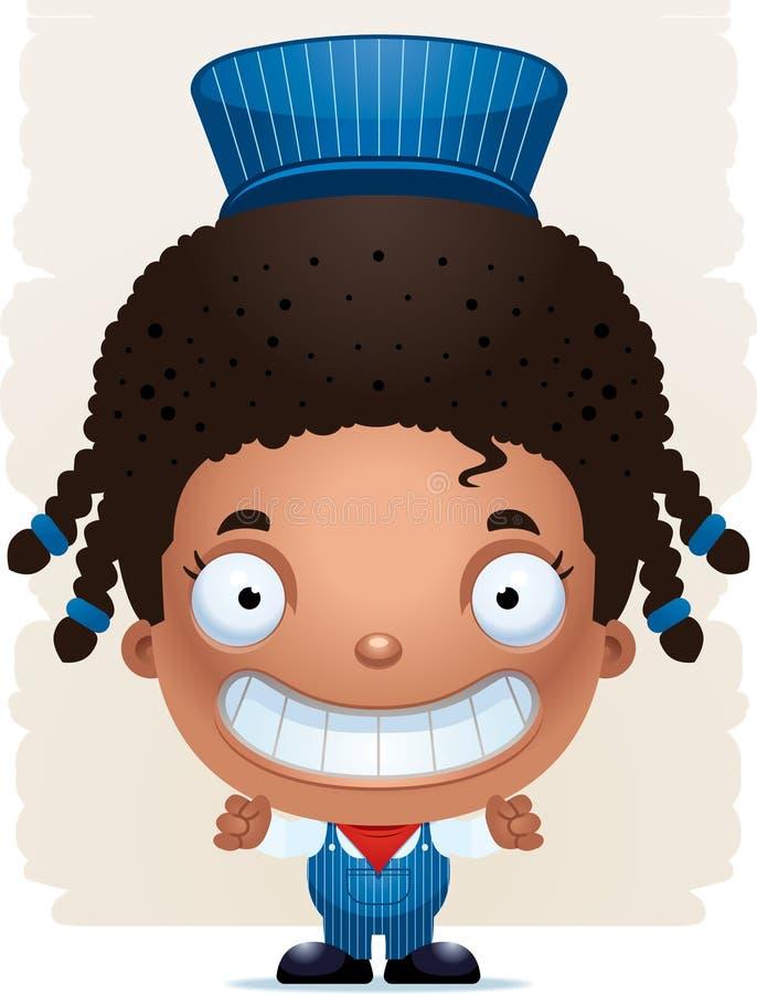 De Leider Smiling van het beeldverhaalmeisje royalty-vrije illustratie