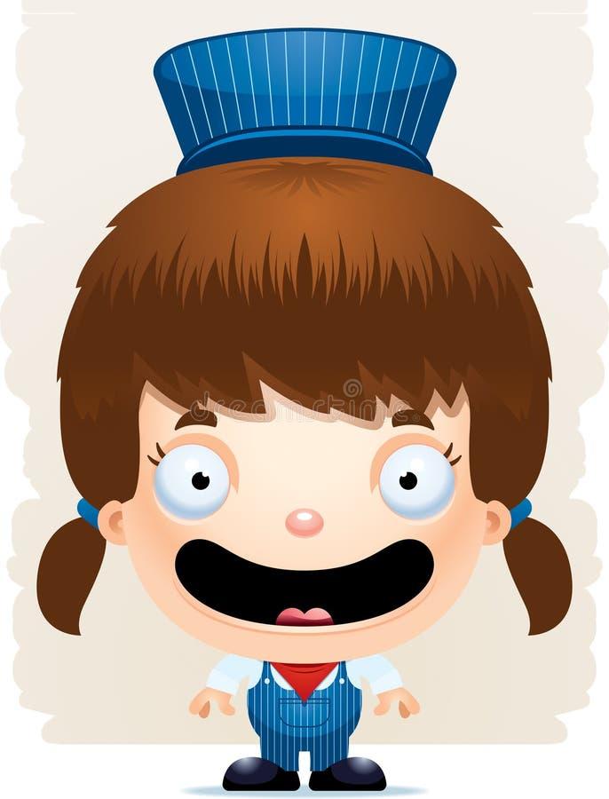 De Leider Smiling van het beeldverhaalmeisje vector illustratie