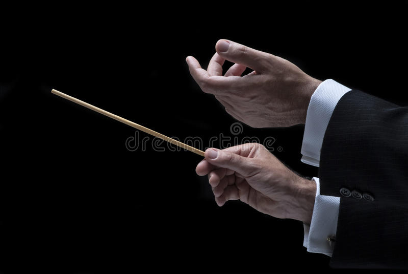 De leider van de muziek stock afbeelding