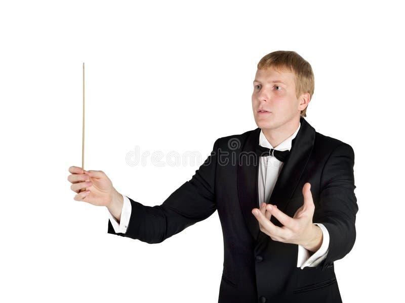 De leider van de muziek stock afbeeldingen