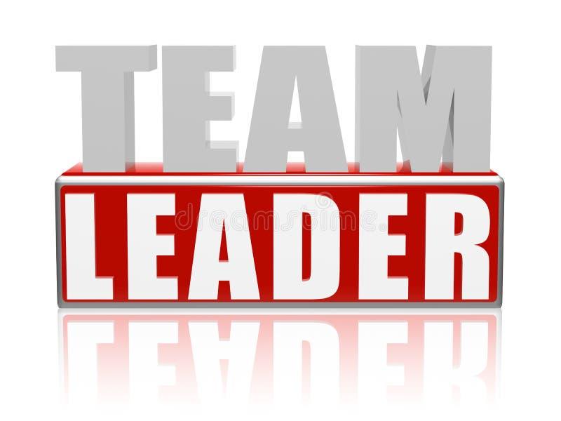 De Leider van het team vector illustratie