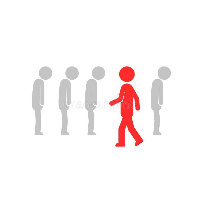 De leider of de vernieuwer kiest unieke manier vector illustratie