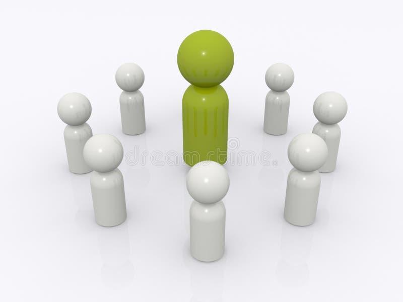 De leidersconcept van het team vector illustratie