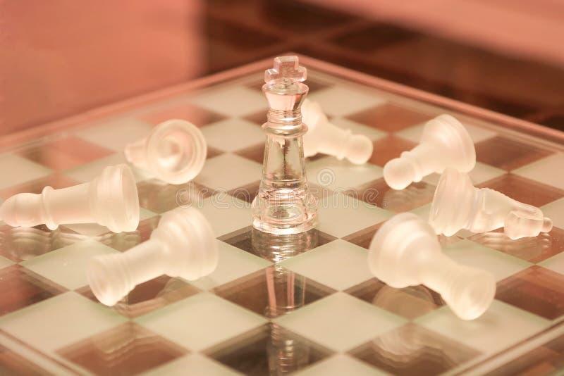 De Leidingsconcept van het koningsschaak royalty-vrije stock foto