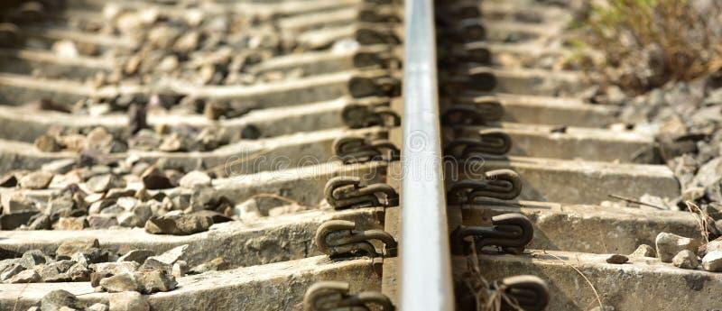 De lengte van het spoorwegspoor royalty-vrije stock foto
