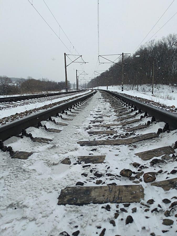 De lengte van het spoorwegspoor royalty-vrije stock fotografie