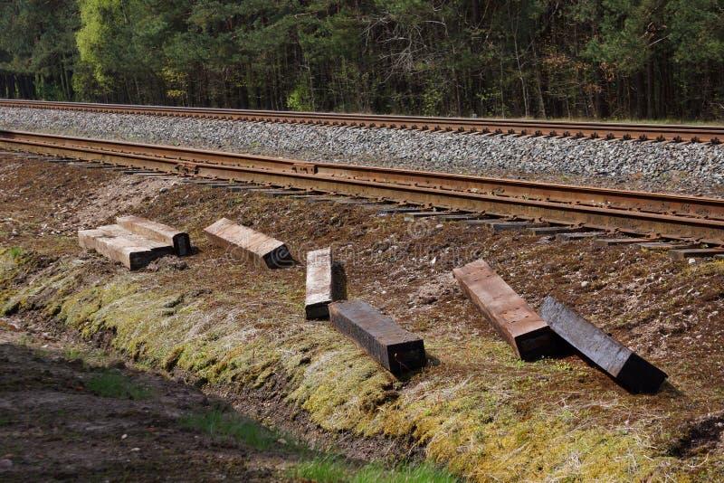 De lengte van het spoorwegspoor delen Asociative Samenvatting royalty-vrije stock afbeeldingen