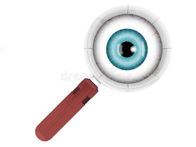 De lens van het oog stock afbeeldingen