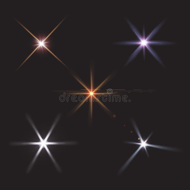 de lensgloed speelt lichtenvector mee stock illustratie