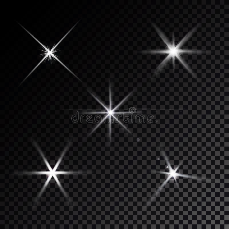 de lensgloed speelt lichtenvector mee royalty-vrije illustratie