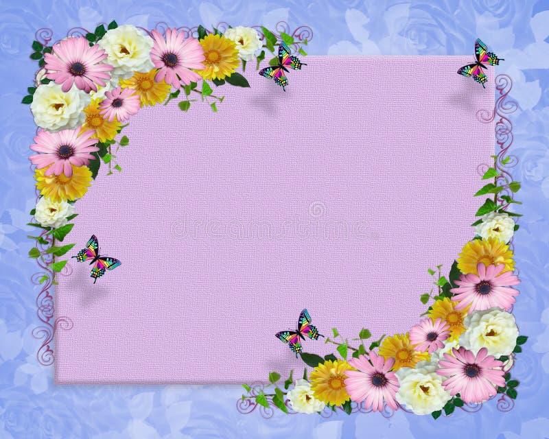 De lente bloeit grensmalplaatje stock illustratie