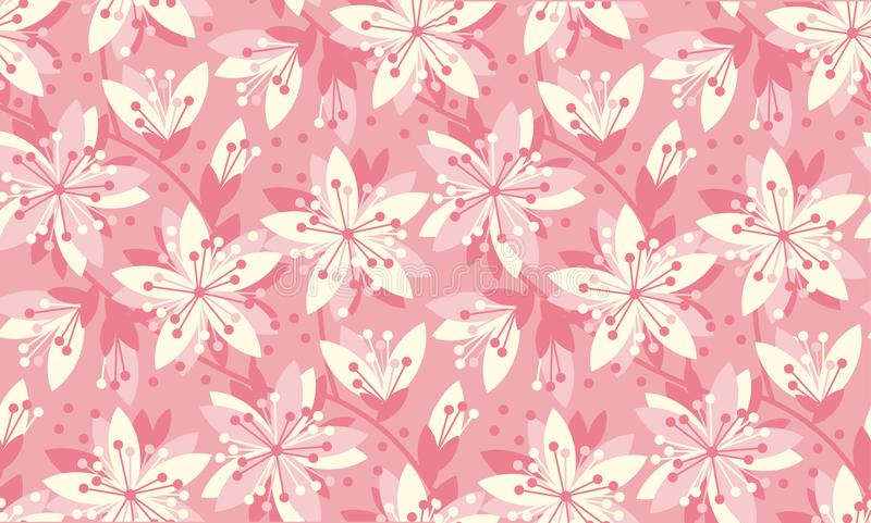 De lente Bloemen Vector Naadloos Patroon vector illustratie