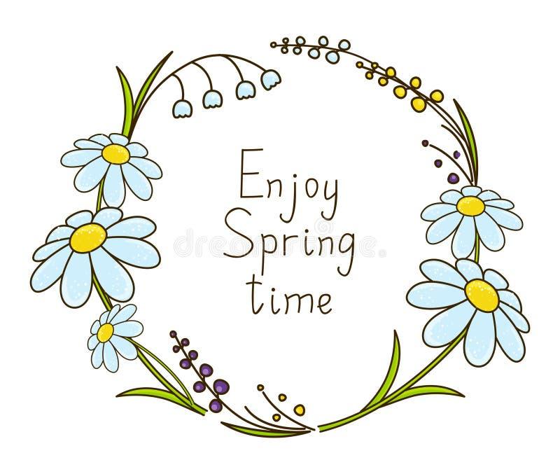 De lente bloemenkader stock illustratie