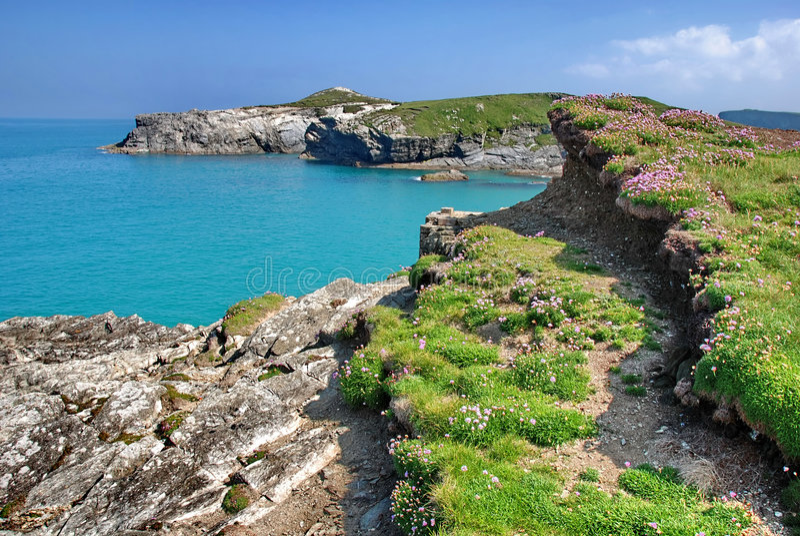De lente in Cornwall stock foto