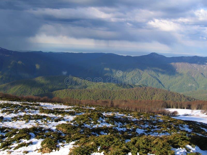 De lente in de berg stock afbeeldingen