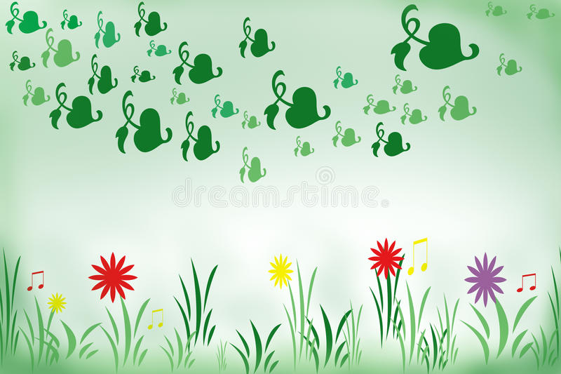 De lente, de lente in weide stock illustratie