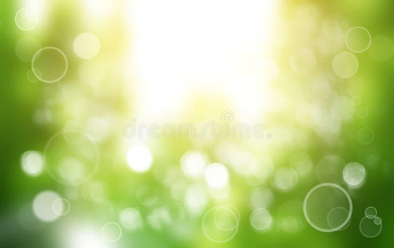 De lente of de zomer achtergrondonduidelijk beeld vector illustratie