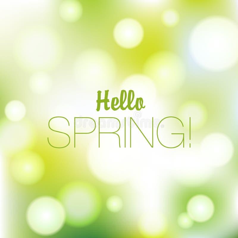 De lente of de zomeraardachtergrond stock illustratie