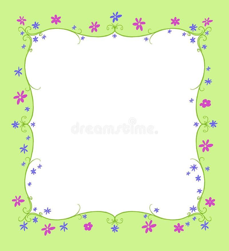 De lente of de Zomerkader van Bloemen royalty-vrije illustratie