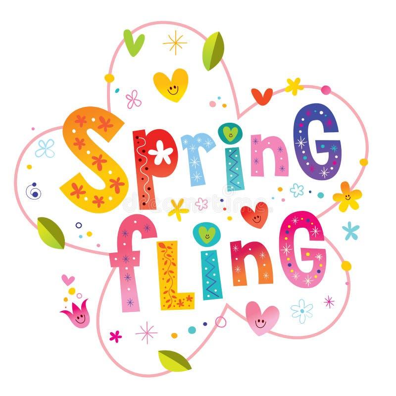 De lente gooit het van letters voorzien ontwerp royalty-vrije illustratie
