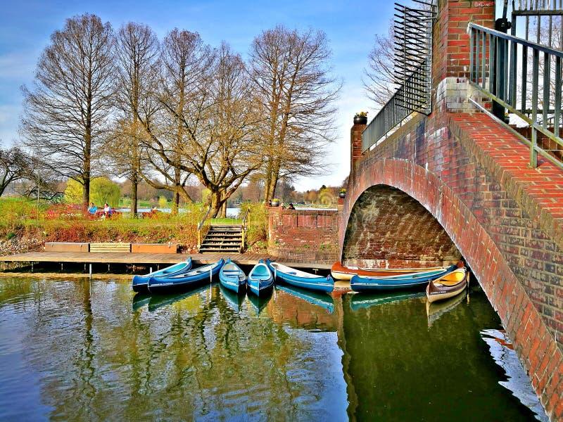 De lente in Hamburg stock afbeelding